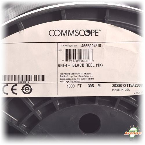 Commscope 6nf4 I Black Reel Media Category 6 U Utp Filled